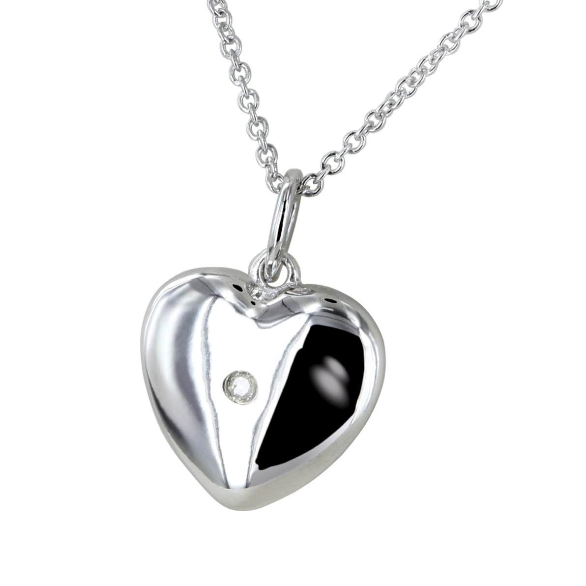 Image featuring close-up of the Chapelle Heart Shaped Necklace