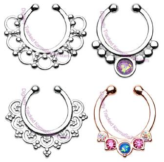 Image showing four different Septum Clicker designs.
