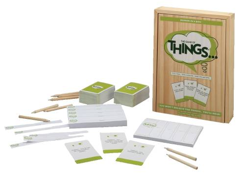 Image showing the Game of THINGS box and content.