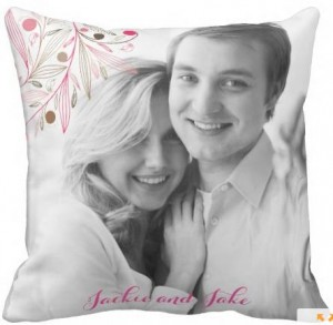 Image of Personalised Love Pillow featuring couople and couple's names