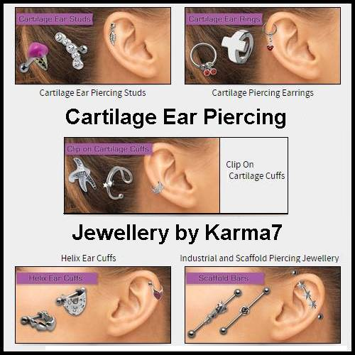 Karma7 Cartilage Ear Piercing Jewellery