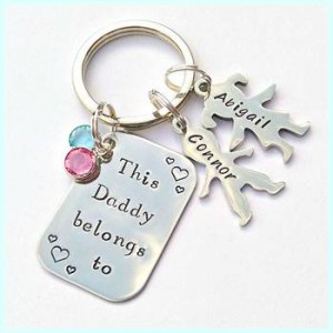Image showing Born Gifed 'This Daddy Belongs to...' Keyring
