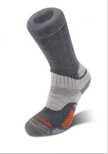 Bridgedale Socks - image of gunmetal colour WoolFusion® Trekker Socks with CuPED™ Technology