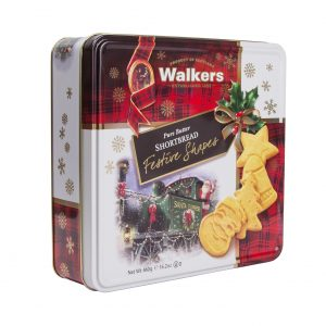 Image showing Walkers Shortbread Tin of Festive Shapes