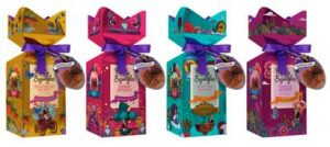 Festive Truffle Gifts. Image showing Merry Gift Boxes in four different flavours.