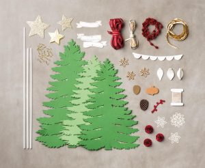 Image showing elements of teh Forever Evergreen Chrsitmas Decorations Kit
