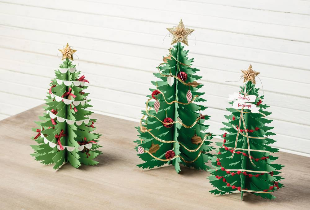 Christmas Decorations. Image showing Completed Forever Evergreen Kit Trees.