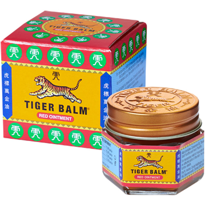 Discount Supplements Grandad Package - Image showing box and jar of Tiger Balm Red Extra Strong Ointment