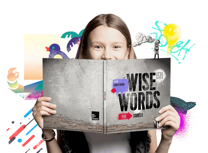Wise(ish) Words for kids Personalised Book